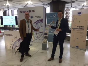 Andreas Ocklenburg and Catalin Ticheru at the Digital Assembly 2018 in Sofia, Bulgaria.